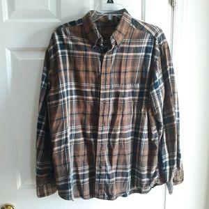 St John's Bay brown plaid shirt